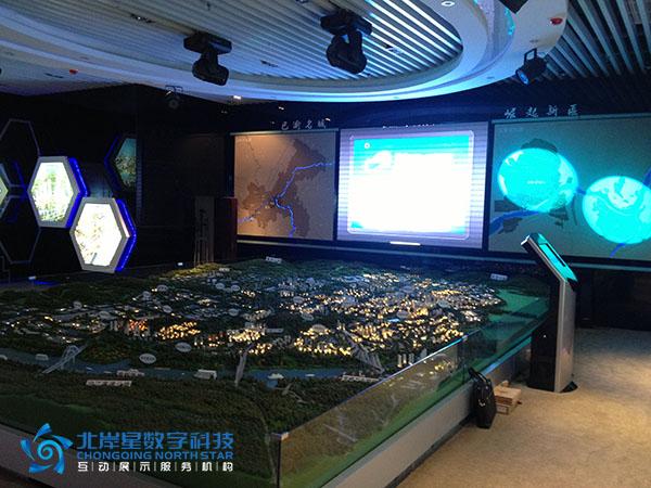 重庆市涪陵李渡工业区规划展厅led大屏幕,沙盘多媒体系统图片
